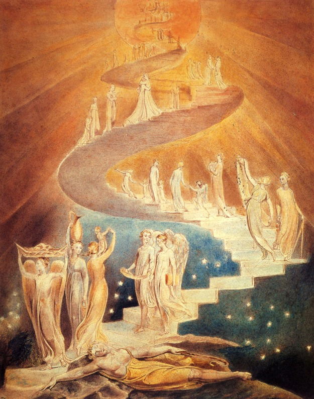 La scala di Giacobbe, di William Blake